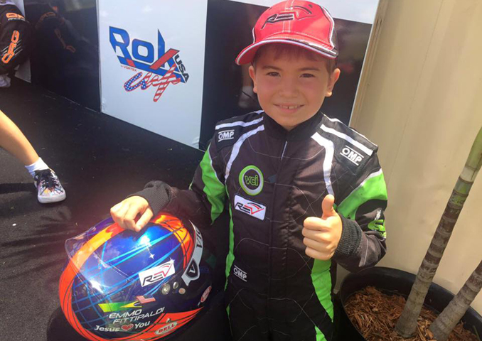 Emmo Fittipaldi triumphs in Micro ROK class at the ROK Cup USA Florida Championship