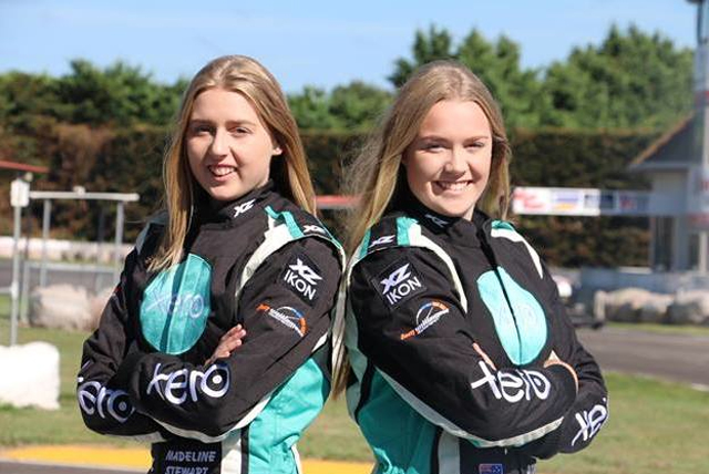 Stewart sister boost kwi antry at Aussie kart champs round