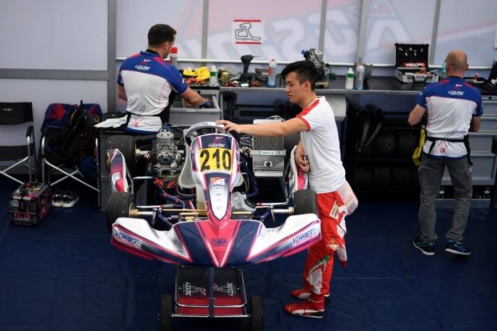 Kosmic Kart at work with the Ferrari Driver Academy