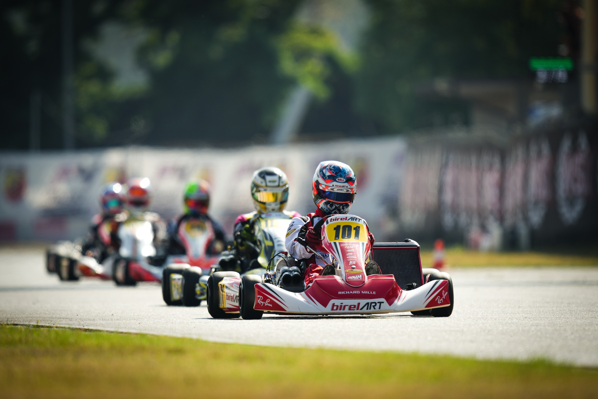 Palomba competes for the WSK Open Cup in Lonato