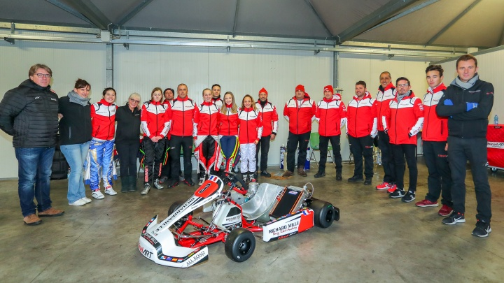A 100% female Birel ART team with Richard Mille