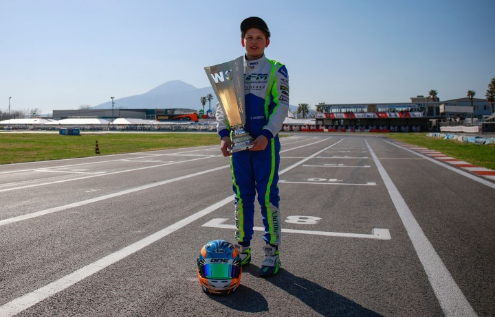 Van Hoepen close to success in the Sarno round of the WSK Super Master Series