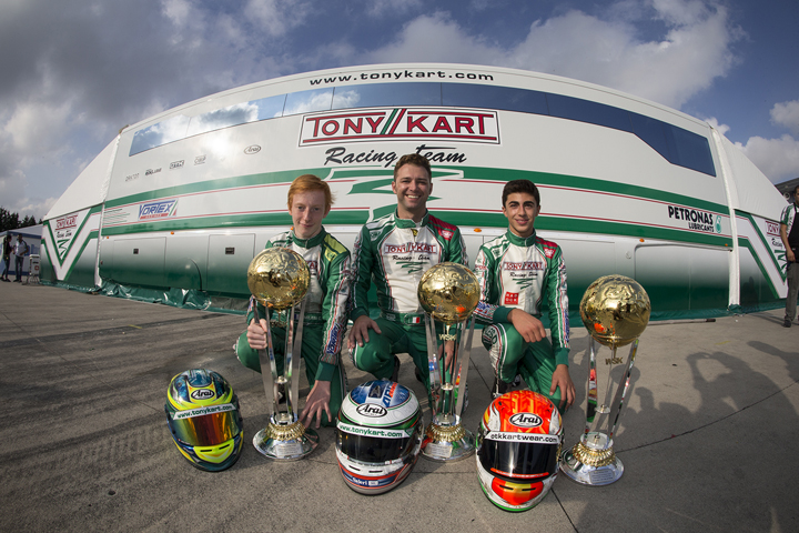 In the WSK Final Cup, Ardigò wins in KZ2, Milesi (2nd) and Vidales (3rd) get on the podium in OKJ