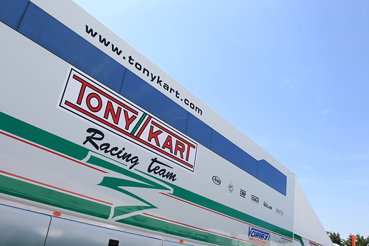 2017 Tony Kart Racing Team drivers line up