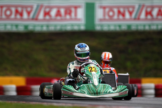 Ardigò gets the third position in the first round of the European Championship for KZ