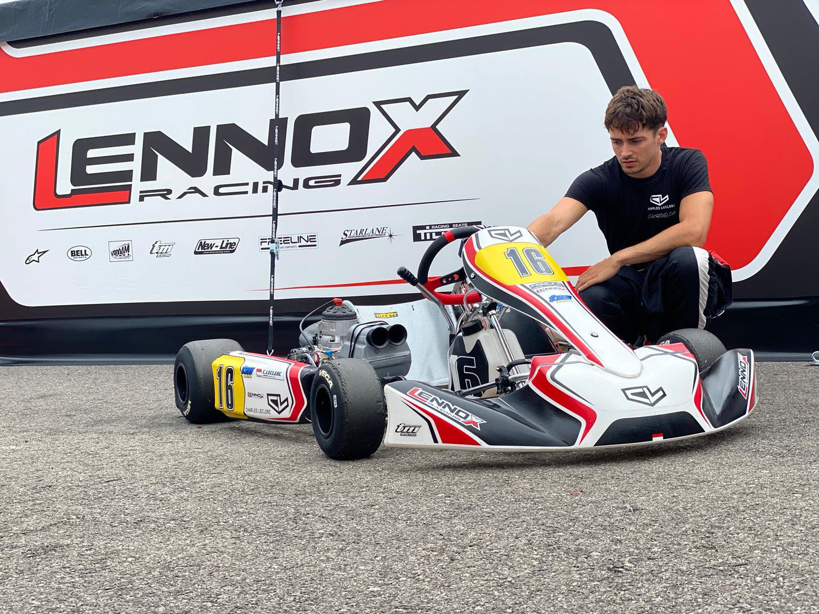 Charles Leclerc driving his CL16 KZ by Birel Art!