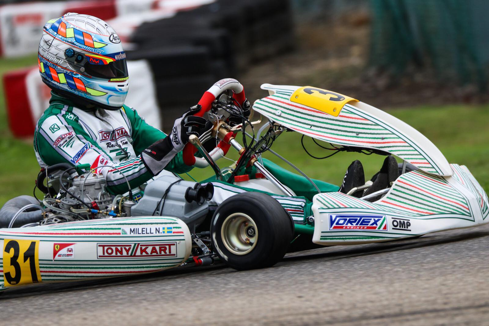 FIA Karting European Championship, Genk - Milell, Gustavsson and Braeken in pole position