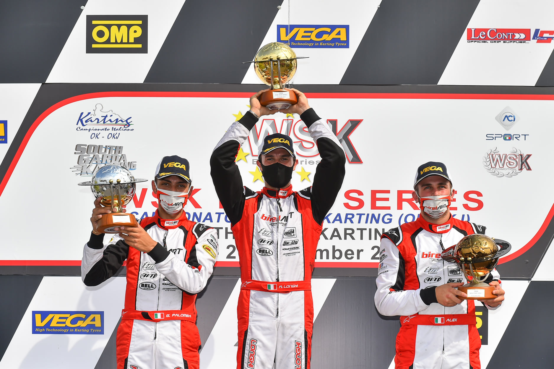 WSK Euro Series - Trophies awarded for all categories
