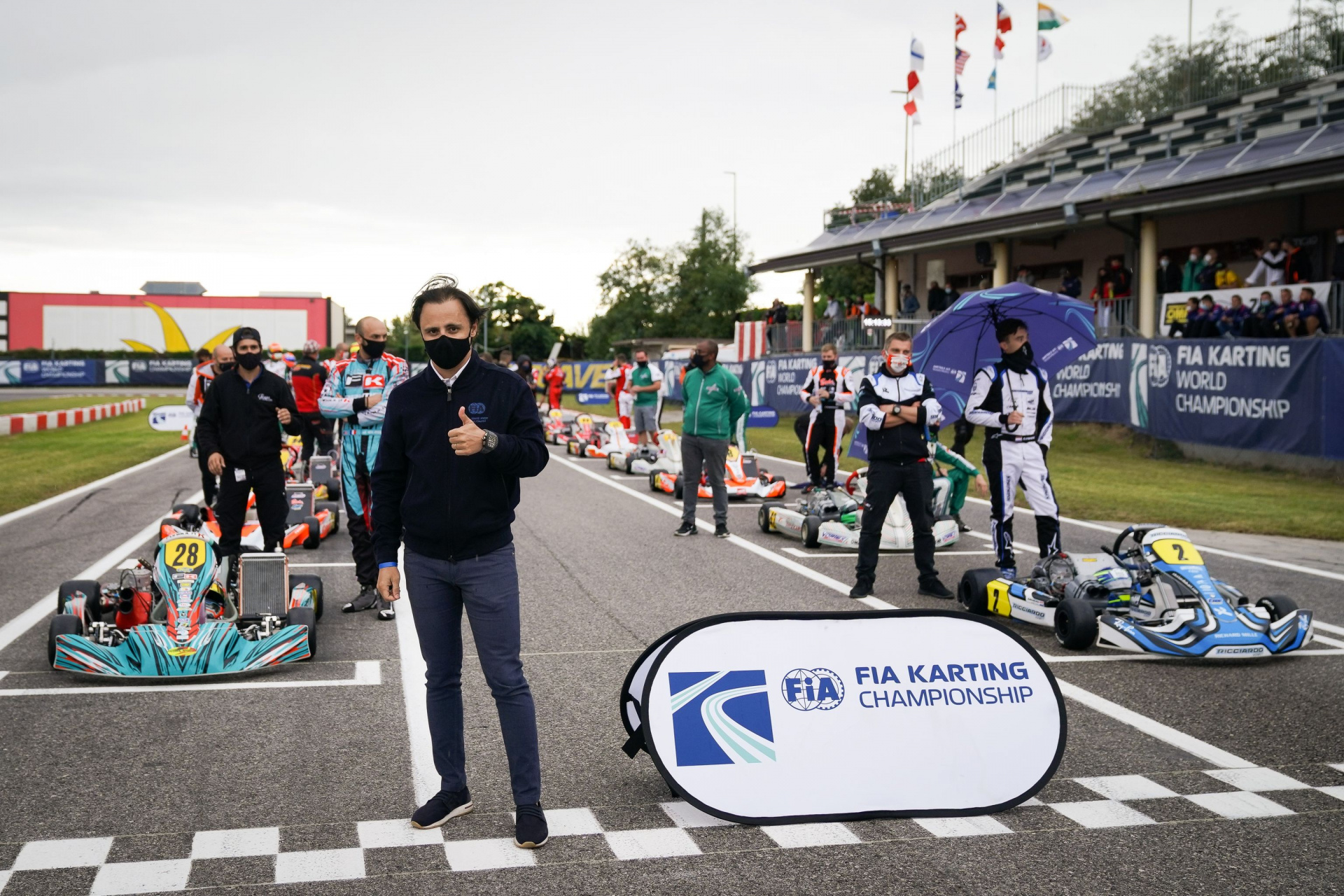 """Felipe Massa: """"FIA Karting is more attentive than ever, let's keep up the enthusiasm for the new season""""."""