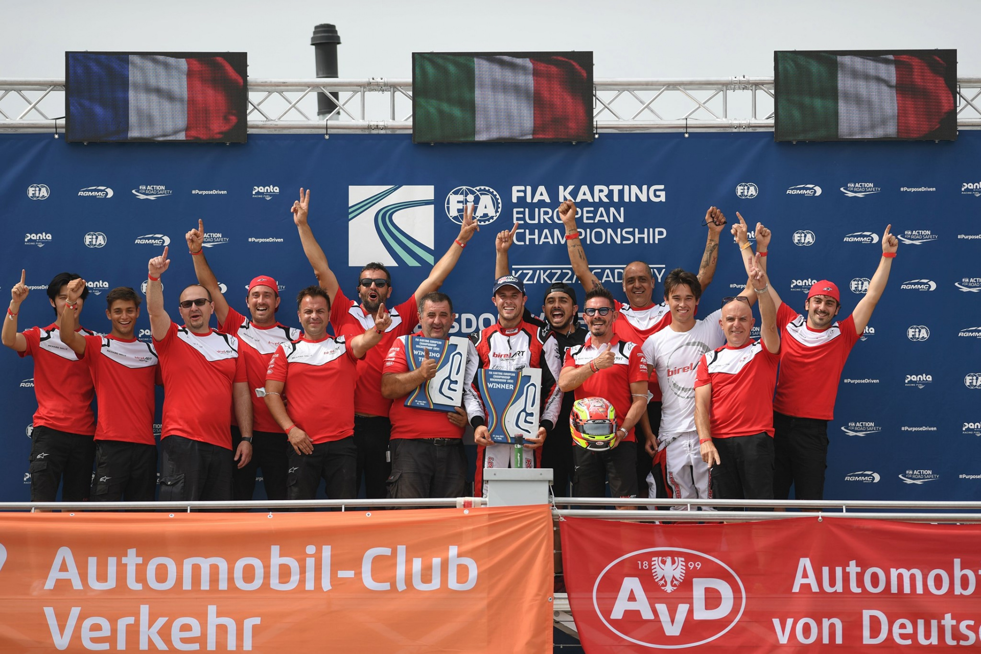 Longhi and Birel ART masterful in the opening of the European KZ Championship