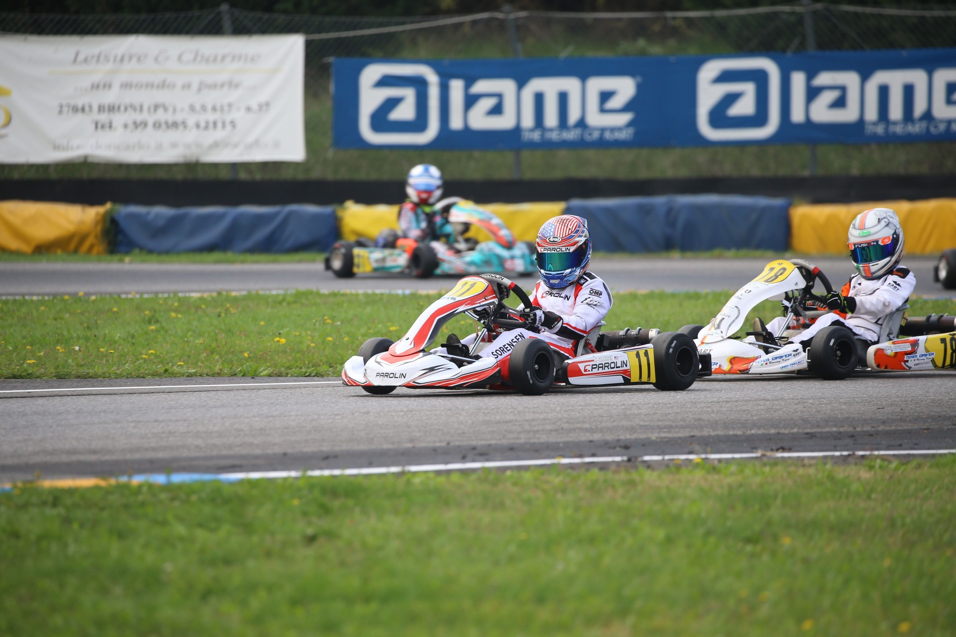 Kai Sorensen on the final podium of the Italian ACI Championship