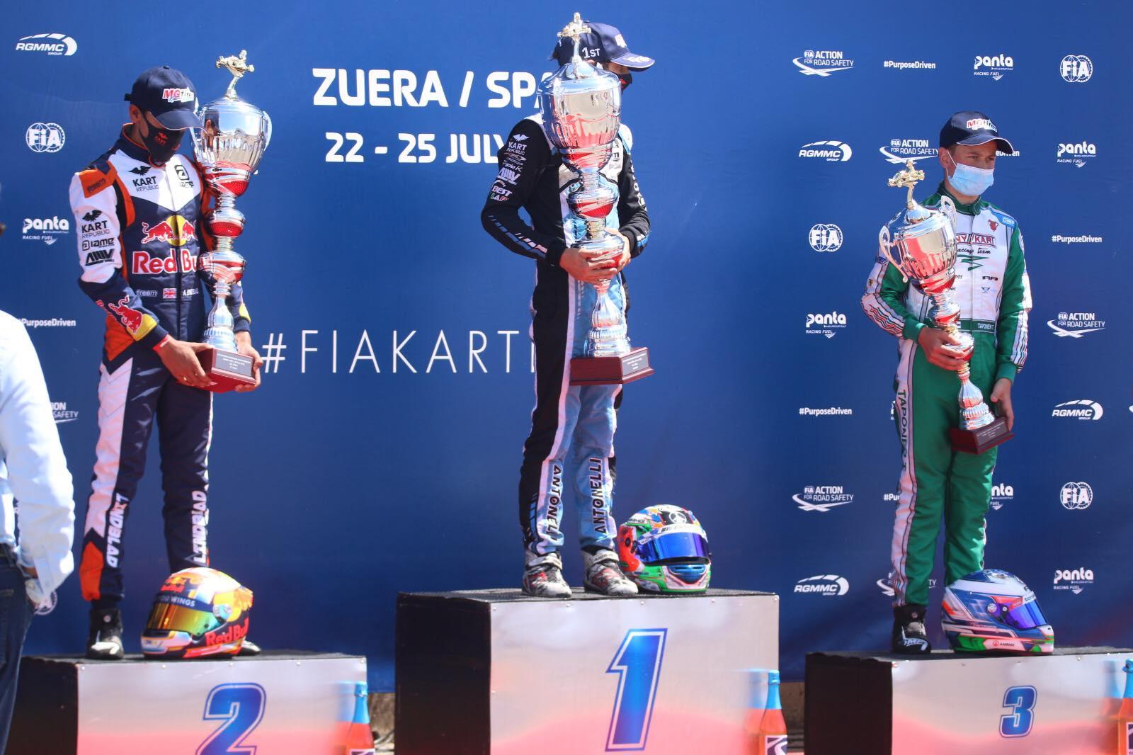 FIA Karting Euro Zuera - Antonelli and Slater, European Champions!