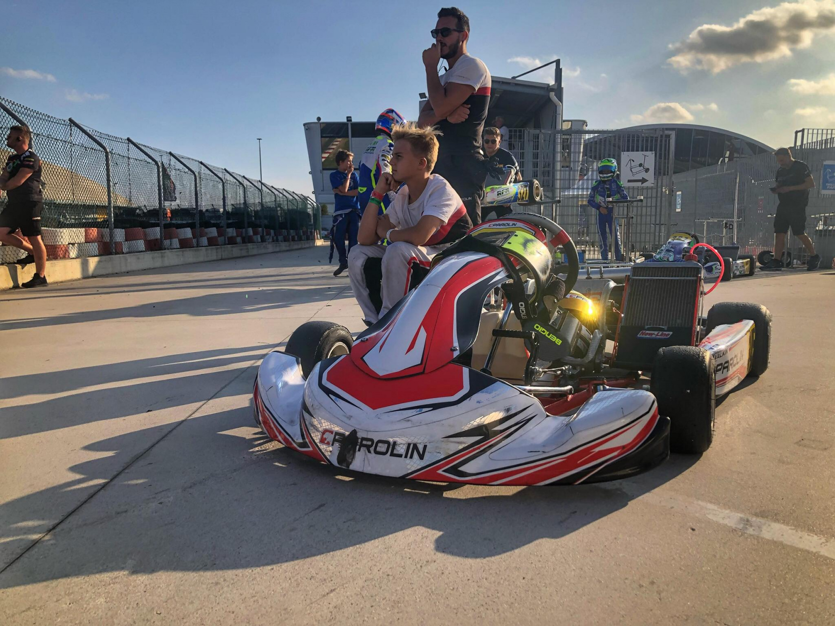 Anatoly Khavalkin among the best of the WSK Open Cup at Adria with a third place