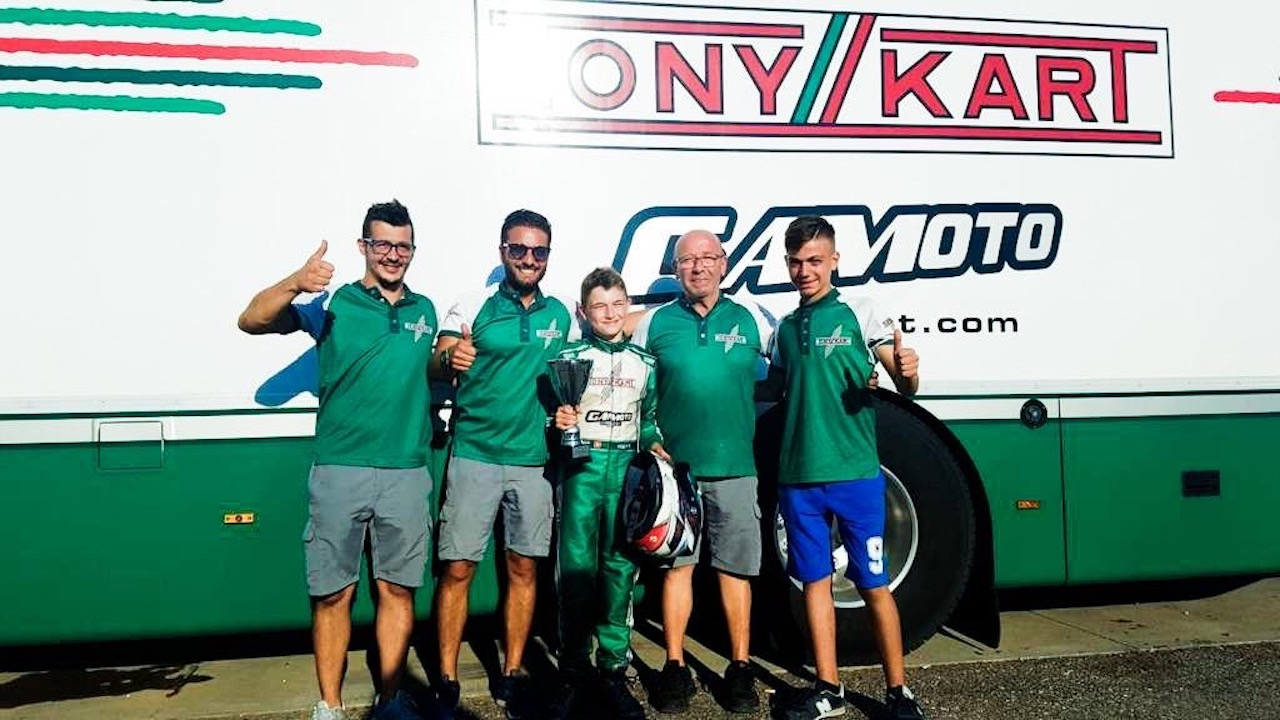 Gamoto Kart on the podium at the Trofeo D'Estate