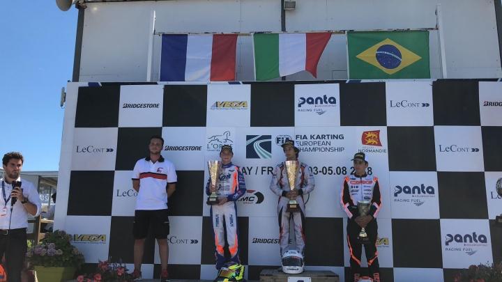 Kart Prix of France, OKJ Final - Minì wins race, Aron celebrates title