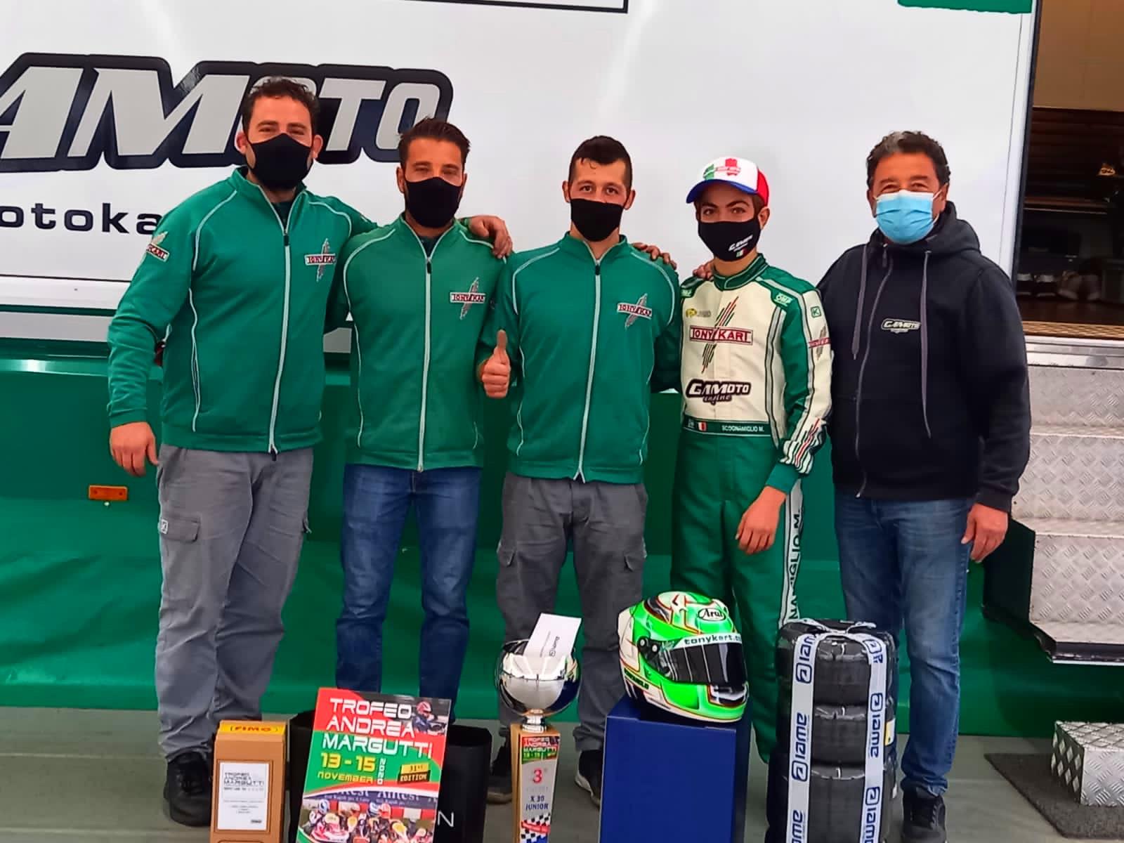 Podium for Gamoto Kart at the Margutti Trophy