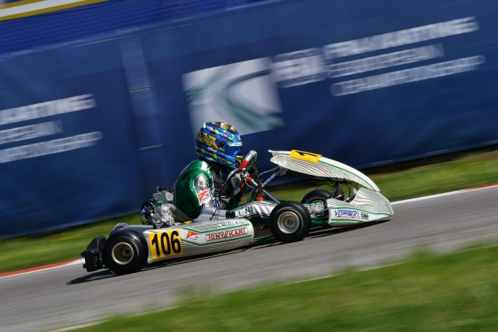 The Tony Kart Racing Team at the start of the 2nd round of the OK-OKJ European Championship