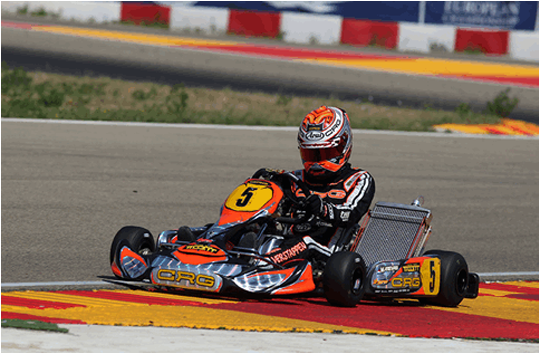 FIRST HIT FOR CRG AND MAX VERSTAPPEN IN THE EUROPEAN CIK-FIA KF&KFJ ROUND OF ALCANIZ IN SPAIN