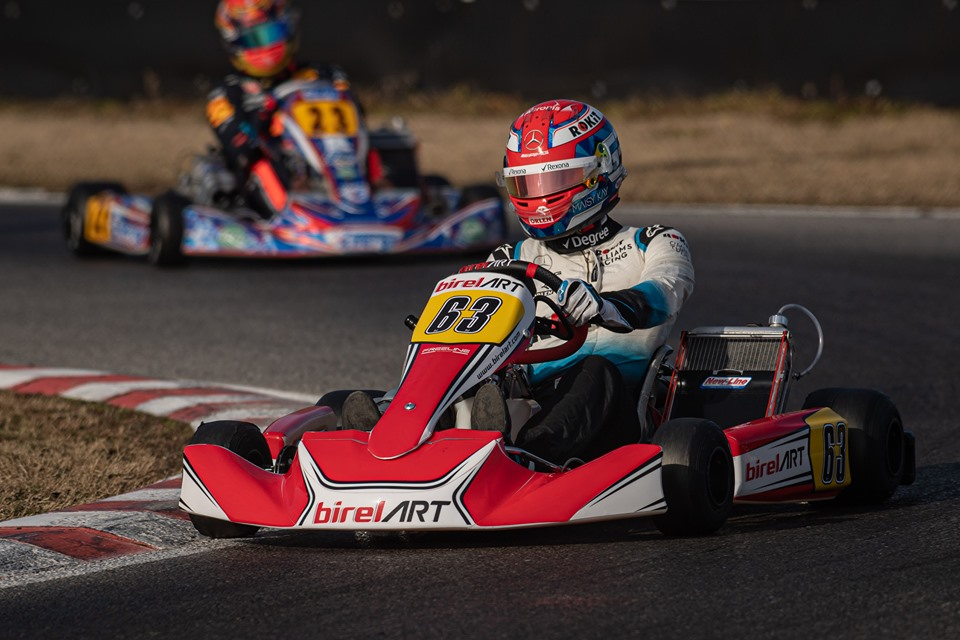 Back to karting for Russell and Albon
