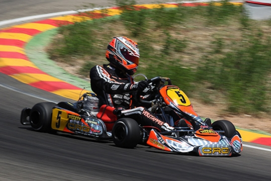 CRG AND MAX VERSTAPPEN ON THE PODIUM IN THE EUROPEAN KF CHAMPIONSHIP OF ALCANIZ. SOLID RACE BY FELICE TIENE.