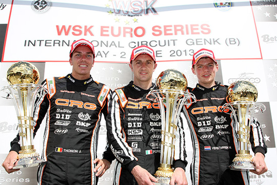 CRG DOMINATES WSK EURO SERIES 'KZ1,  VERSTAPPEN GETS THE TITLE, FORE' THE LAST FINAL IN GENK
