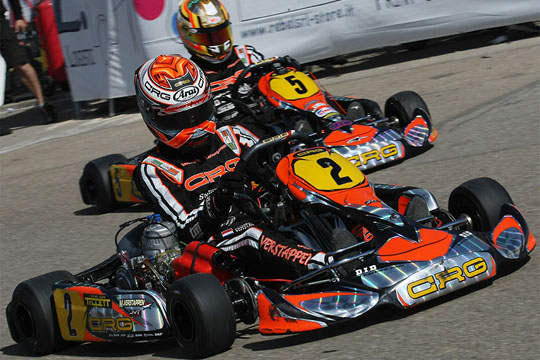 In Sarno for the third round of the Wsk Euro Series. In KZ1, Verstappen arrives with a 100 point lead