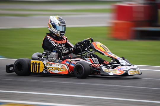 CRG, front row for Davide Forè in WSK Final Cup
