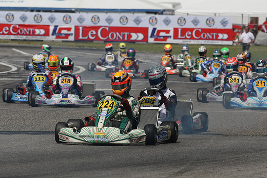 SPECTACULAR FINALS IN SARNO'S FIRST ROUND OF THE ITALIAN CSAI KARTING CHAMPIONSHIP