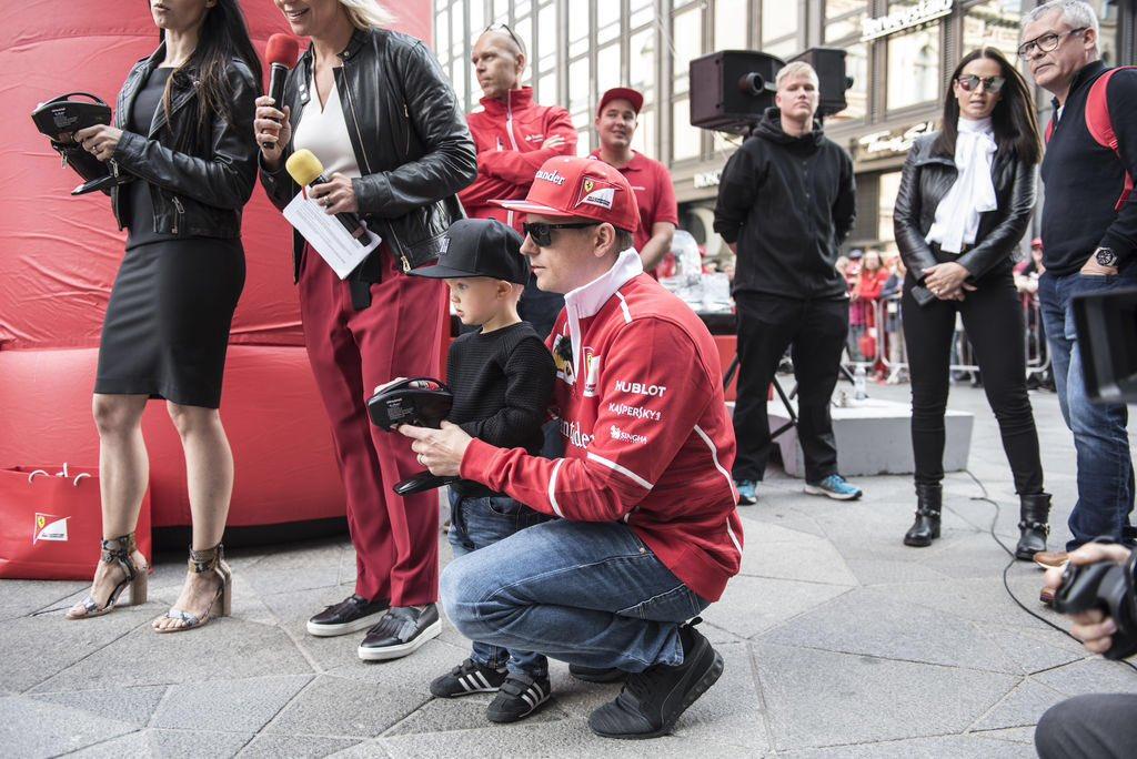 Raikkonen Jr, the beginning of his karting adventure?
