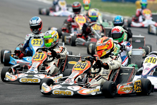 FELICE TIENE DISPLAYING A GREAT SHAPE IN THE WSK SUPER MASTER AT CASTELLETTO