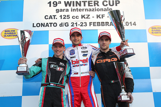 THE CHAMPIONS OF THE 19TH WINTER CUP ARE DE CONTO IN KZ2, LORANDI IN KF AND THE BRITON ENAAN IN KFJ