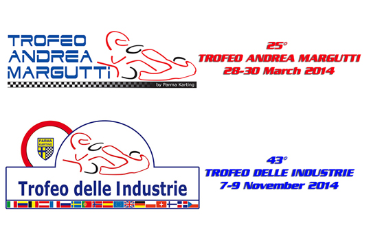 2014 dates of the 25th Trofeo Andrea Margutti and 43rd Trofeo delle Industrie