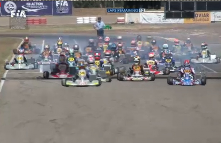 Celenta and Camponeschi start Zuera finals from pole