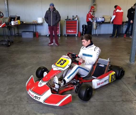 "Russell ""back"" in kart to get ready for F1"