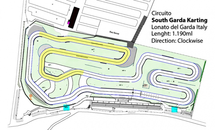 The new layout of South Garda Karting circuit in Lonato