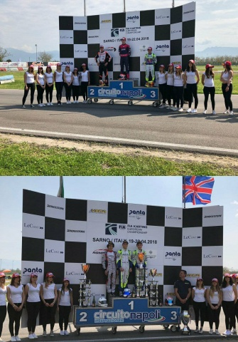 Kart Grand Prix of Italy - Finals: Stanek and Aron, open the European season