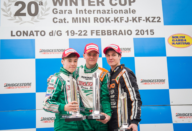 At the Winter Cup Tony Kart dominates