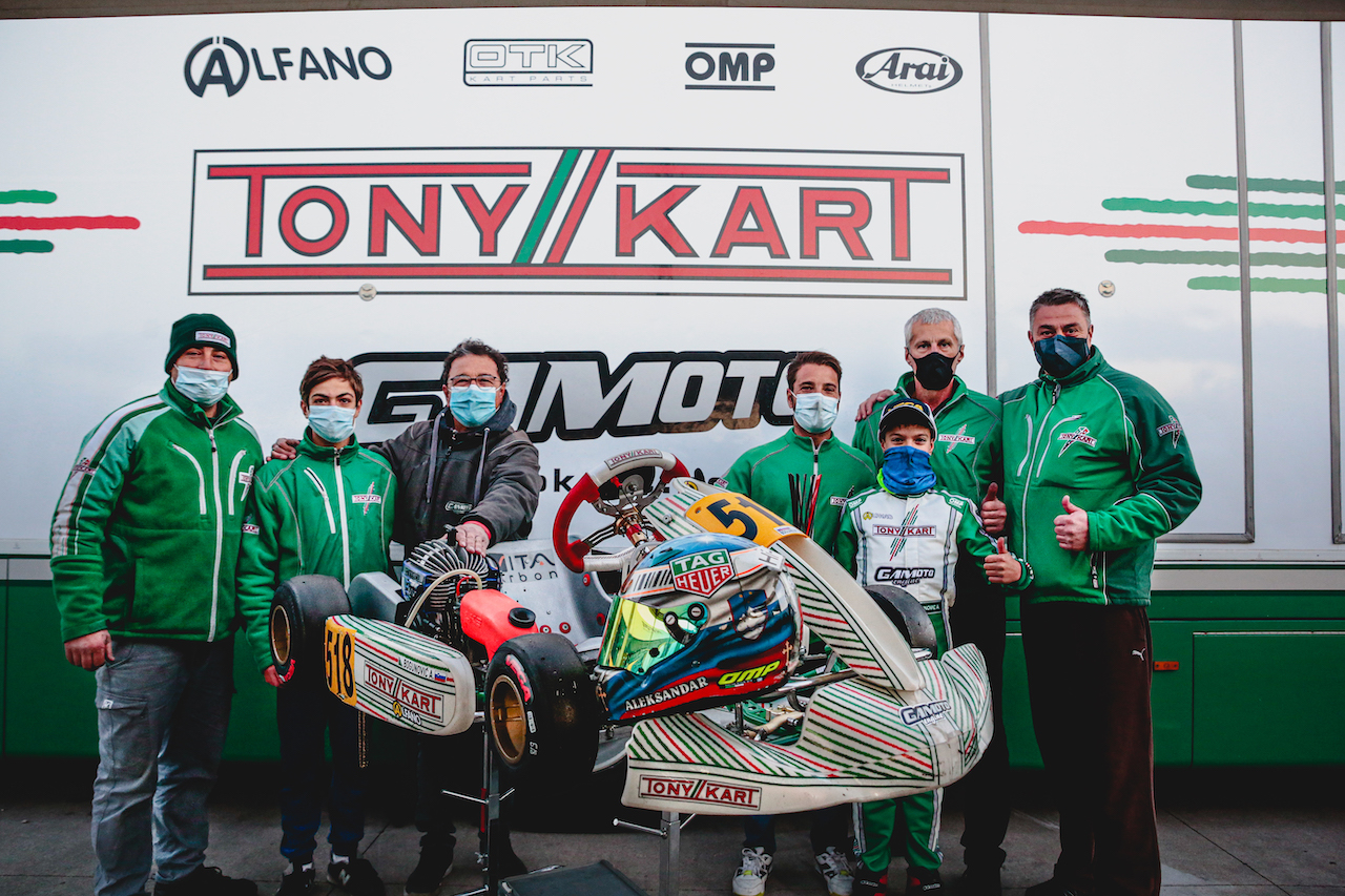 Gamoto on the podium in the WSK Open Cup