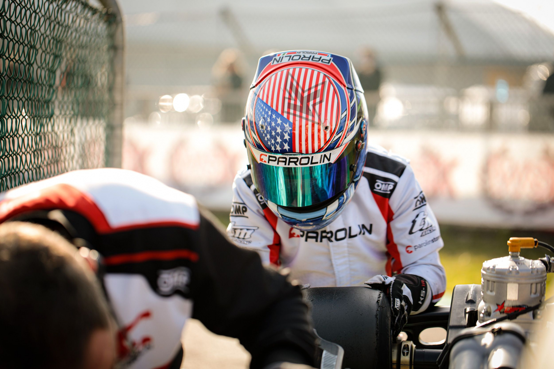Kai Sorensen takes to the track at Muro Leccese