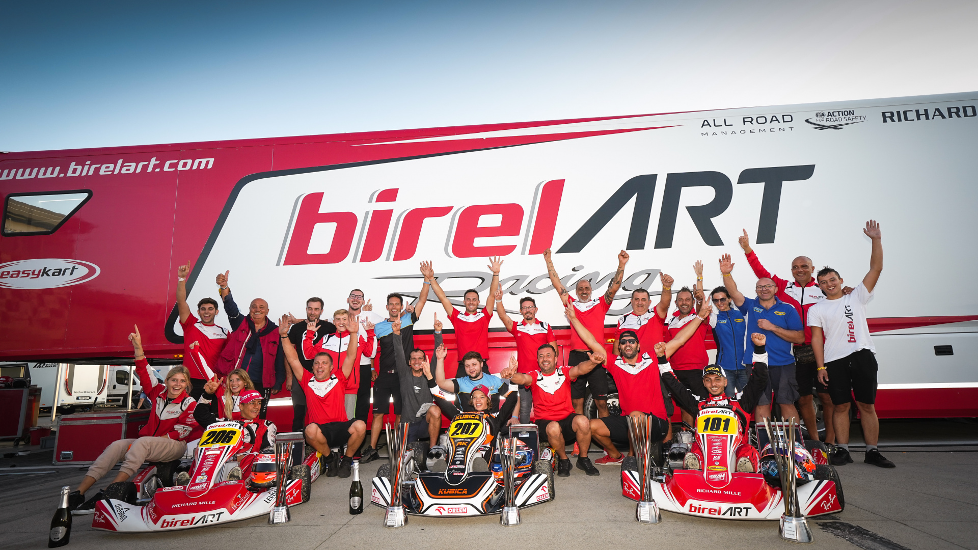 Victories and title in the WSK Open Cup in Adria