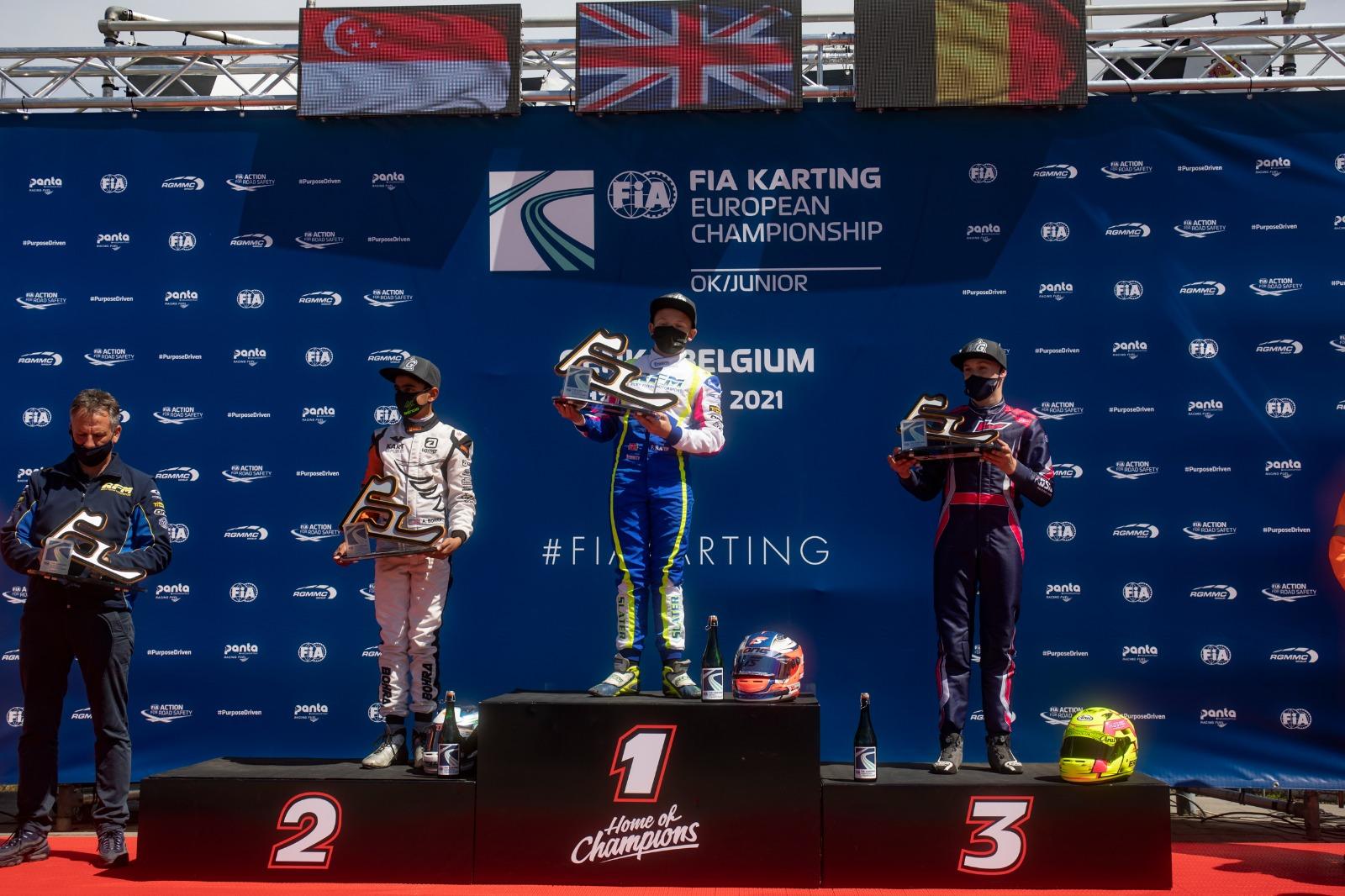 FIA Karting European Championship, Genk - Camara and Slater on top